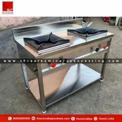 SLC Stainless Steel Double Burner Bhatti