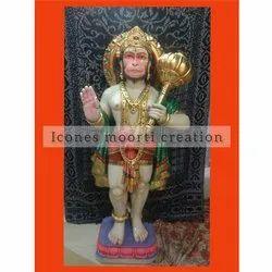 Standing Marble Hanuman Statue