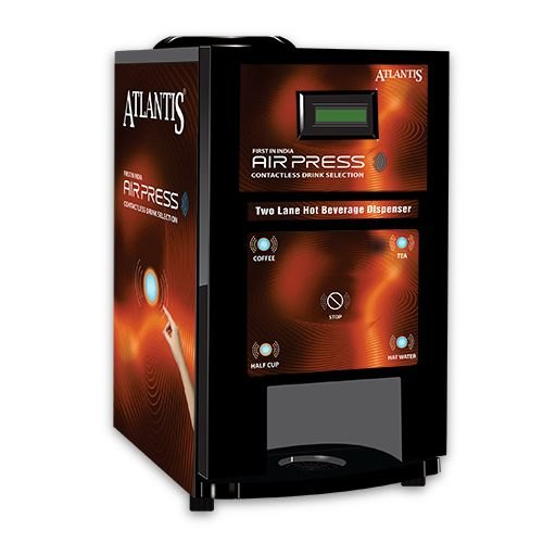 Atlantis Air Press Touchless Tea And Coffee Vending Machine 2 Lane