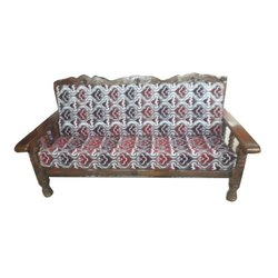 Wooden 3 Seater Sofa