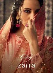 Glossy Zarra Pure Viscose Muslin Embroidrey Digital Print Salwar Suit Catalog