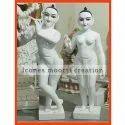 4.2 Feet White Marble Radha Krishna Statue