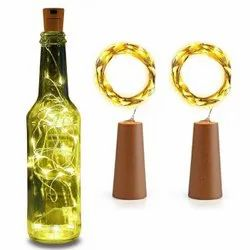 20 LED Wine Bottle Cork Lights Copper Wire String Lights, 2M Battery Operated