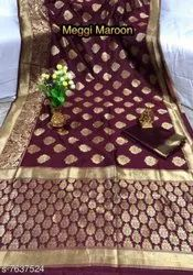 Heavy Zini Butti Banarasi Silk Saree
