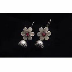 Flower Round Antique Earrings