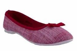 GNX Women Flat Heel Balley Canvas Shoe, Size: 3-8