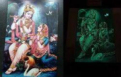 Radha Krishna Night Vision Tile