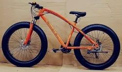ORANGE MERCEDES BENZ FAT TYRE CYCLE
