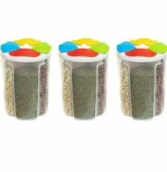 4 Section Round Container