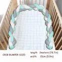 Braided Cot Bumper, Baby Crib Bumper Handmade 200 Cm