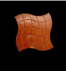 Glossy Orange Floor Tile
