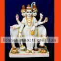 Decorative Marble Dattatreya Statue