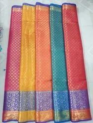 6.3 m (with blouse piece) Wedding Jamdani Silk Saree