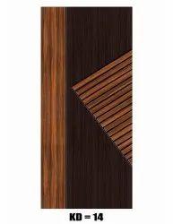 Termite Proof Solid Wood Membrane Decorative Door, For Home, Door Height: 7 Feet