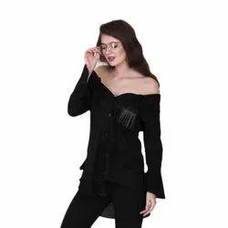 Tara Full Sleeves Ladies Off Shoulder Shirt, Casual