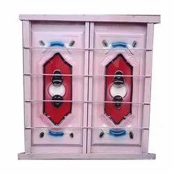 Decorative Iron Double Door Window