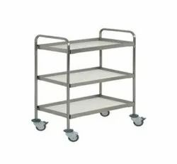 SS Kitchen Trolley Three Shelves
