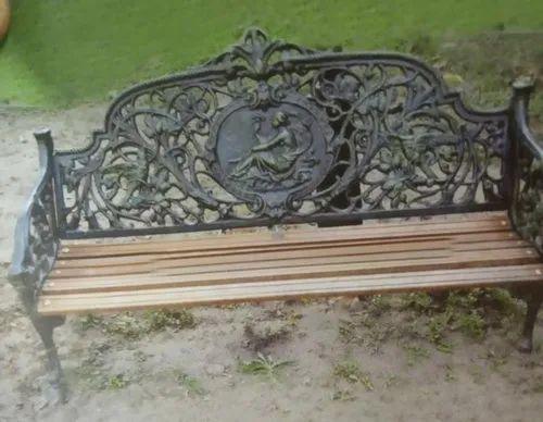 3 Seater Cast Aluminium Garden Bench, 3 Seater Cast Aluminium Garden Bench