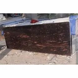 Polished Brazil Brown Granite Slabs, For Flooring,Countertops, Thickness: 15 mm