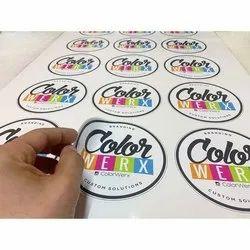Round Vinyl Sticker, For Advertisement, Packaging Type: Packet
