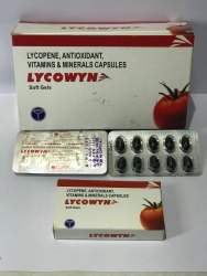Lycopene Antioxidant Vitamins Minerals Lycowyn Capsules, Prescription, Packaging Type: Paper Box