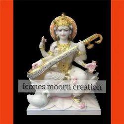 4.6 Feet Marble Laxmi Statue