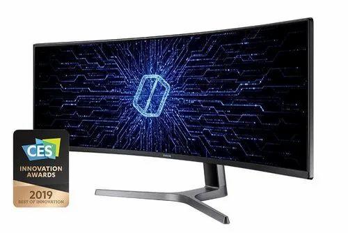 Samsung Curved QLED Gaming Monitor - C49RG90 (Dark Blue Grey)