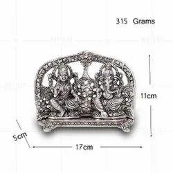 Silver Plated Laxmi Ganesh Frame