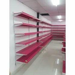 7 Feet Mild Steel Grocery Display Rack, For Supermarket, 6 Shelves