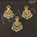 Traditional Ad Stone Studded Designer Earrings