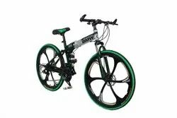 Green Silver Bmw Foldable Cycle
