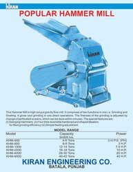 Hammer Mill Feed Grinder