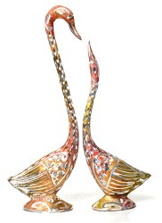 Metal Duck(Swan) Set Love Birds Home Decor Showpiece Gifted Item
