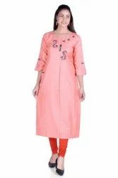Embroidered Daily Fancy Rayon Kurti