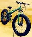 Green Hummer  Fat Foldable Cycle