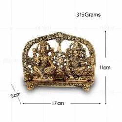 Gold Plated Laxmi Ganesh Frame