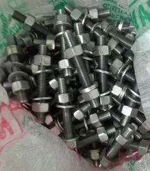 Hexagonal Stainless Steel 904l Nut Bolt, For Industrial, Material Grade: SS904L