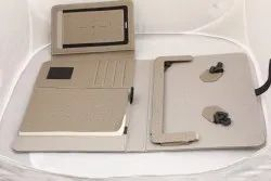 Apple iPhones gray Leather Tablet Cover Case, For Powerbank