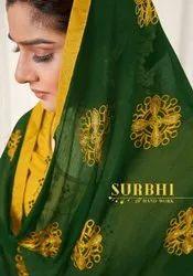 AVC Creation Surbhi Heavy Cotton Slub Handwork Dress Material Catalog
