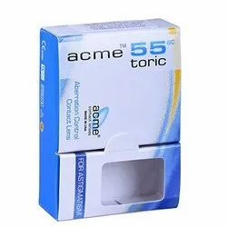 Acme 55 Toric Contact Lenses, Packaging Type: Box