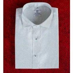 Boros Cotton Polka Dots White Shirt, Size: XS-XL