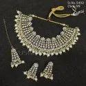 Antique Pearl Wedding Kundan Necklace Set