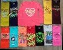 Hosiery 12 Color Girls T-shirt Casual Top Half Sleeve, Age Group: 3-13year