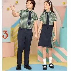 Cotton Checked Summer School Uniform