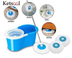 Spin Mop with Easy Wheels and Bucket