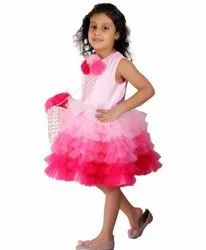 Plain Girl Sleeveless Designer Kids Frock
