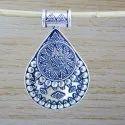 925 Sterling Silver Plain Jewelry Designer Women's Pendant WP-5652