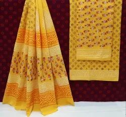 Exclusive New Hand Block Printed Cotton Suits With Cotton Dupatta.