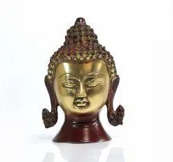 Brass Buddha Head Statue Fengshui Gifted Sculpture