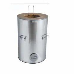 Mild Steel Round MS DRUM TANDOOR, Capacity: 200 Ltr